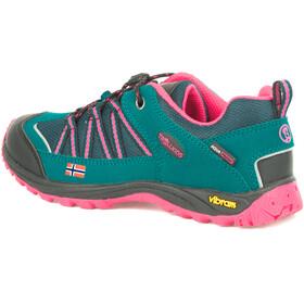 TROLLKIDS Lofoten Hiker Low Shoes Kids smaragd/rubine